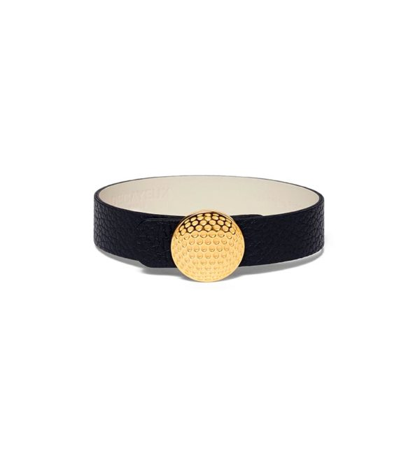Decayeux paris - BRACELET EN CUIR DE LUXE_LARGE_GOLF_OR_NOIR