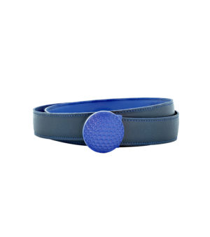 luxury brand france belt blue leather decayeux paris