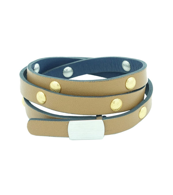 Reversible Dimpled Studded Bracelet - Freshness Collection - decayeux paris