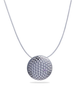 Dimpled pendant necklace luxury brand france-decayeux-paris-palladium