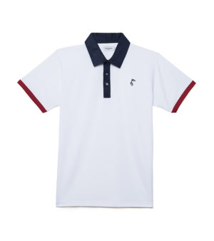 polo-de-golf-design-blanc-et-rouge-decayeux-paris