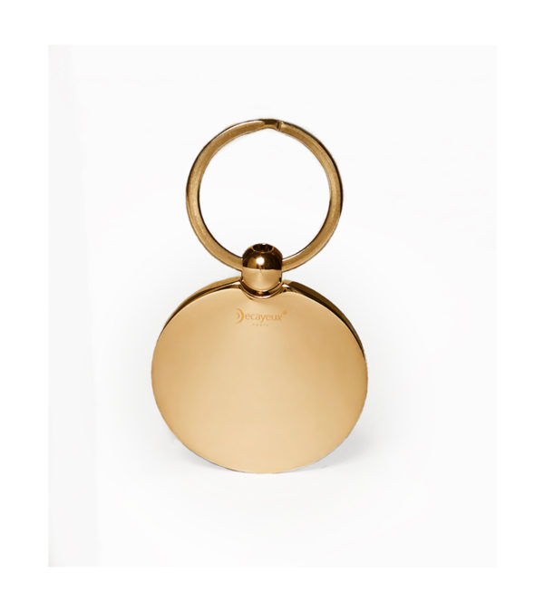 Customized Golf ball Key Ring - gold finish