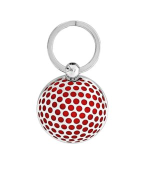 golf ball with lacquered dimples key ring - Freshness Collection