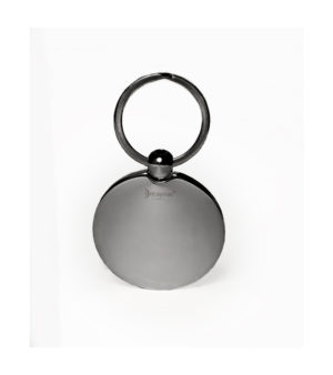 Customized Golf ball Key Ring - Titanium finish