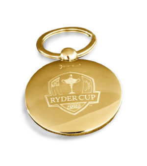 Golf ball key ring - Ryder Cup - Gold finish