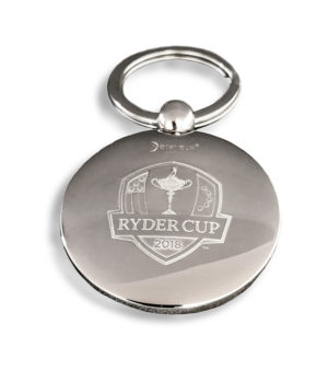 Golf ball key ring  - Ryder Cup - Palladium finish