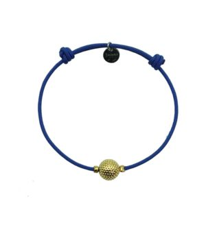 Bracelet coloris bleu finition or Decayeux Paris