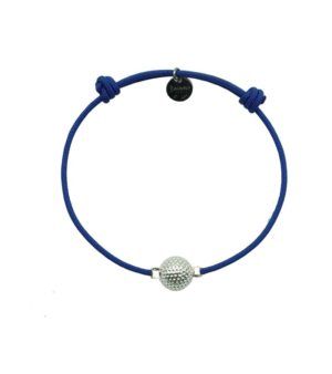 Bracelet coloris bleu finition palladium Decayeux Paris