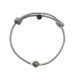 Bracelet cordon gris finition ruthénium DECAYEUX PARIS